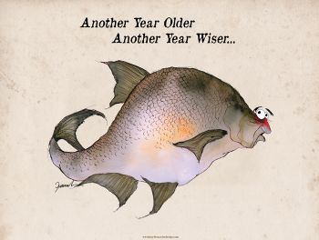 another year older another year wiser... - signed print